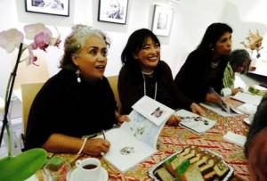 Makers van de publicatie:  vlnr Grace Bernardus, Karin Lopulalan, Sylvia Pessireron